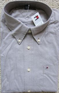 Tommy Hilfiger Beige Premium Long Sleeves Shirt Mens $59 50