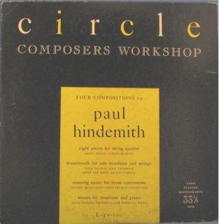 Hindemith 8 Pieces for String Quartet LP
