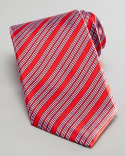 N1VEF Stefano Ricci Diagonal Stripe Tie, Red/Blue