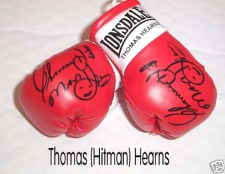 Autographed Mini Boxing Gloves Thomas Hitman Hearns