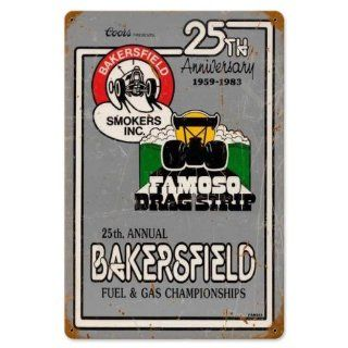 Vintage Retro 25th Ann Bakersfield Metal Tin Sign Home