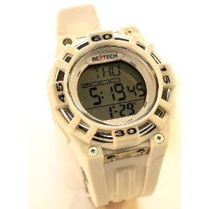 Beatech BH5000W Heart Rate Monitor Watch White Alarm
