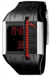 PU910501001 Cardiac II Black and Silver Heart Rate Monitor Watch
