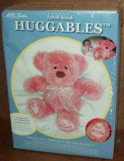 Mcg Huggable Its A Girl Pink Bear Latch Hook Kit Free