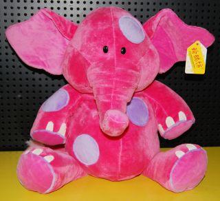 Adoroble Gulliver Elephant Hot Pink Stuffed Animal Plush Toy 14 Brand