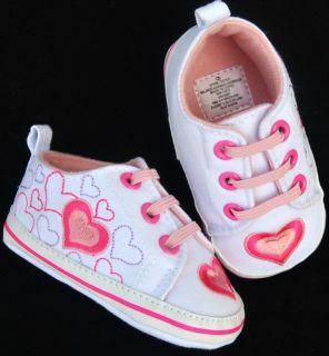 Kids Toddler Baby Girl Pink Tennis Shoes Size 2 3