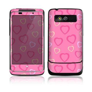 HTC 7 Trophy Skin Decal Sticker   Pink Hearts Everything