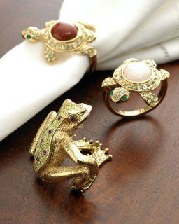 frog napkin rings $ 165 00 l objet gold plated turtle frog napkin