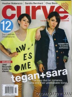 curve magazine March 2012 TEGAN SARA heather Matarazzo Chaz Bono