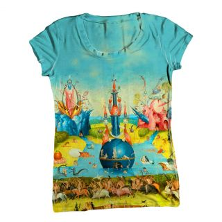 ArtsyClothingCo  Womens Top  Ladies T Shirt  Hieronymus Bosch 001