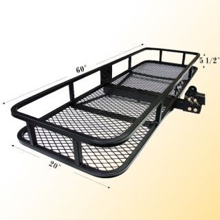 Cargo Basket Carrier for Truck Trailer Receiver Hitch Rack