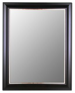 Classic Ebony Silver Wall Mirror Made in USA Hitchcock Butterfield