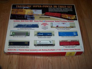 Walthers HO Scale Train Set with Box 8 Piece Super Power not Lionell