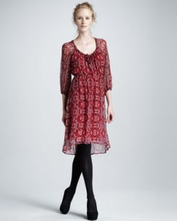 dress available in ruby $ 248 00 ella moss aura printed chiffon dress