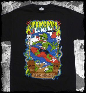 Horrorpops Horror Beach T Shirt Official Fast SHIP