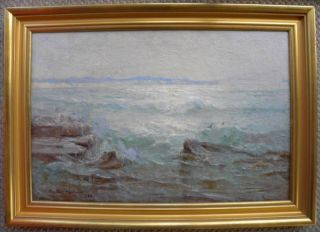 Hedley Parsons Old Coastal Impressionist Oil Painting