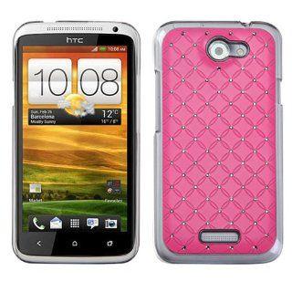 HTC One X Hot Pink Luxurious Lattice Pattern Design