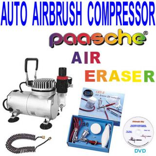 AEC K Air Eraser Kit and Compressor w Free How to clean DVD 9 99 value