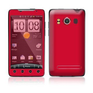 Simply Red Protective Skin Cover Decal Sticker for HTC Evo