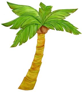 Kids Beach Wall Mural Palm Trees Sand Surf 8 New
