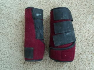 Horse Tendon Boots Like SMB Professionals Choice Red Maroon Burgundy