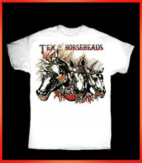 TEX AND THE HORSEHEADS T SHIRT GLAM PUNK GUN CLUB X LP LA COW PUNK