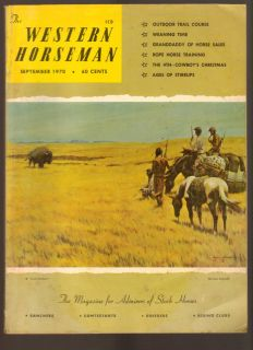 Western Horseman Magazine September 1970 for Admirers of Stock Horses