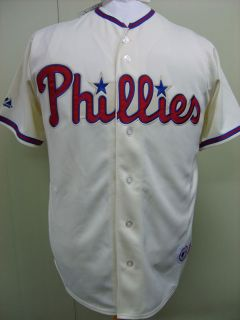 MLB Philadelphia Phillies Majestic Blank Cream Jersey