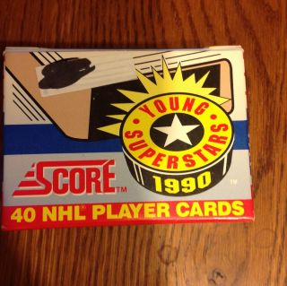 Cards 1990 Young Superstars Score Hockey in Box Trading BIOS
