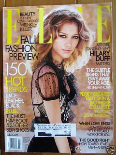 Elle Magazine July 2006 Hilary Duff Fall Fashion Beauty
