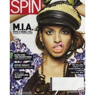 Spin Magazine December 2008 Issue Features MIA Cover Elvis