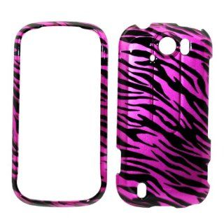 Hot Pink Zebra Strips Snap on Protective Cover Case for