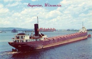 SUPERIOR, WI HARRY WM. HOSFORD just unloaded cargo view from Arrowhead