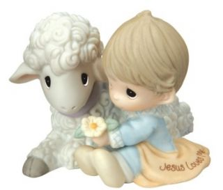 Precious Moments Figurine JESUS LOVES ME Boy