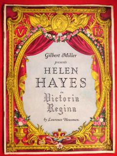 Helen Hayes in Victoria Regina 1930s Souvenir Program