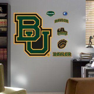 Baylor University BU Logo Wall Decal 39 x 44 in