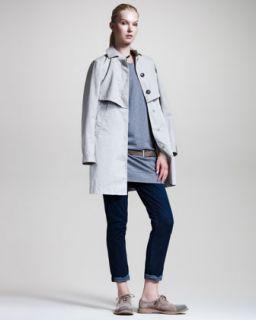 464R Brunello Cucinelli A Line Jacket, Ruffle Trim Sweatshirt Dress