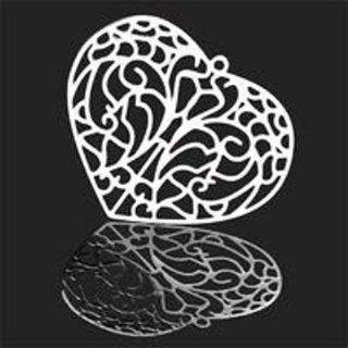 34mm Forever Silver Filigree Heart Pendant: Arts, Crafts