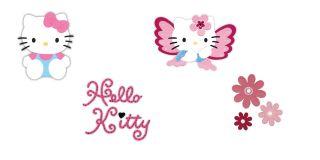 655791) Hello Kitty Sitting w/bow *(655800) Hello Kitty, Butterfly