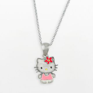 New Hello Kitty® Sterling Silver Charm Necklace