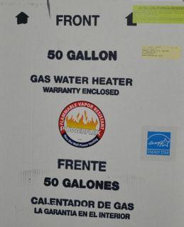 Powerflex PVG6250T42NV Hot Water Heater NG 50 Gal New