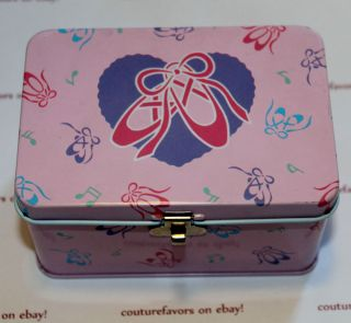 HELLO KITTY BALLERINA CHARM JEWELRY TIN BRACELET NECKLACE BOX
