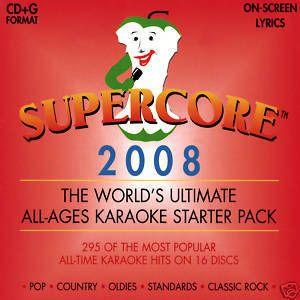 Supercore 2008 16 Disc Karaoke Pop Rock R B Hip Hop Country CD G Pack