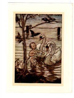 Kite Swans Crows Ravens Peter Pan 1910 Arthur Rackham