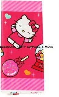 Hello Kitty Sweet Plastic Tablecover Party Supplies