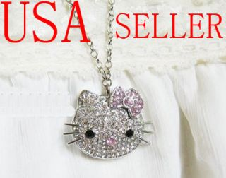 4GB Jewel Hello Kitty Crystal Necklace Flash Drive USB
