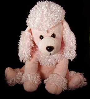 pink plush stuffed poodle soft and cuddly welcome to his and hers too
