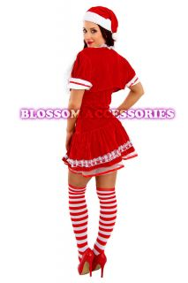 F22 Santa Claus Christmas Helper Fancy Dress Costume Xmas Party Outfit