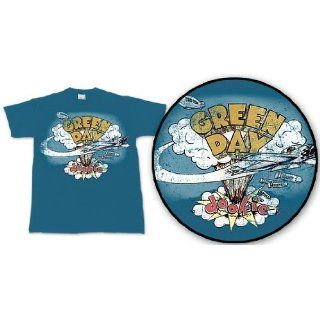 Green Day   Retro Dookie T Shirt in Indigo, Size X Large