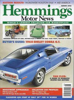 Hemmings Motor News Magazine Shelby Cobra Cars Trucks